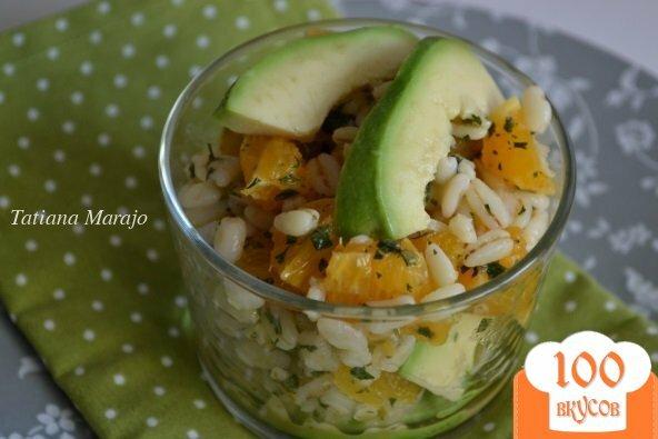 Фото рецепта: «Салат с перловкой , апельсинами и авокадо»
