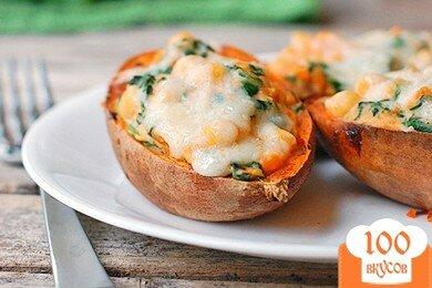 Фото рецепта: «Фаршированный сладкий картофель»