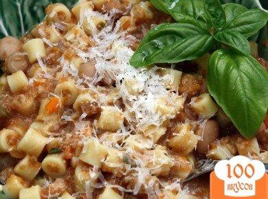 Фото рецепта: «Паста с фасолью»