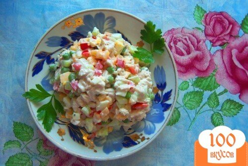Фото рецепта: «Салат «Di pollo»