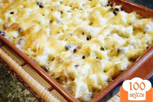 Фото рецепта: «Цветная капуста с грибами, молоком и сыром.»