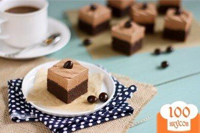 Фото рецепта: «Брауни с кремом мокка»