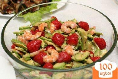 Фото рецепта: «Салат из креветок с авокадо»