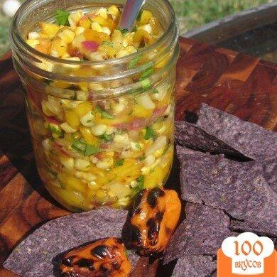Фото рецепта: «Сальса с овощами и фруктами, обжаренными на гриле»