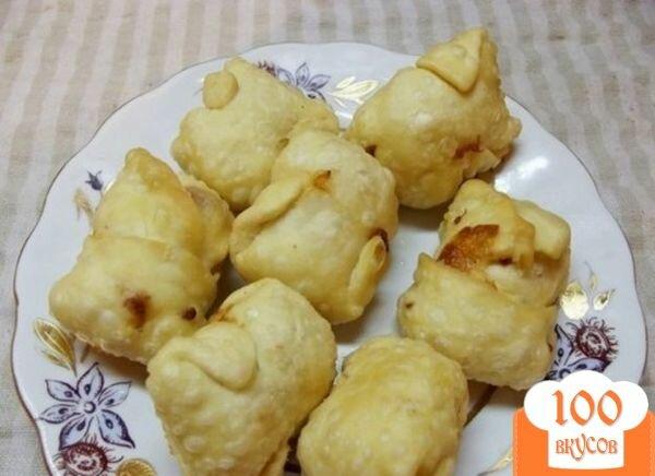 Фото рецепта: «Сырные конвертики во фритюре»