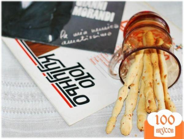 Фото рецепта: «Гриссини с пармезаном - Grissini con Parmigiano»