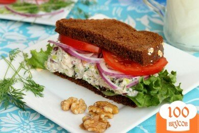 Фото рецепта: «Сэндвич с салатом из тунца»
