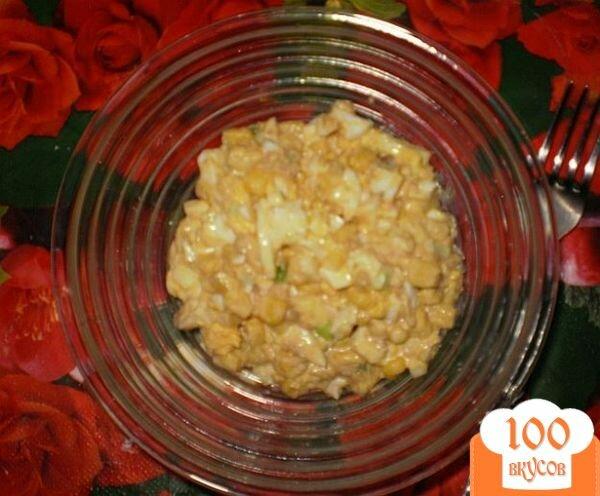 Фото рецепта: «Салат с тунцом и кукурузой»