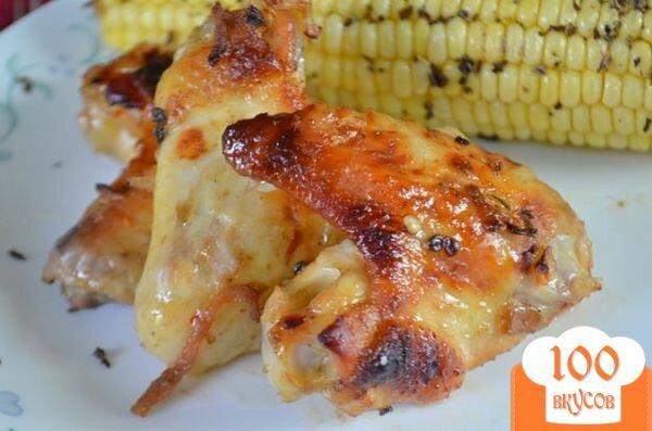 Фото рецепта: «Куриные крылышки с кленовой глазурью»