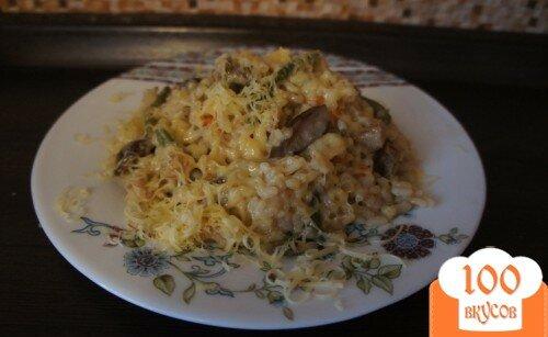 Фото рецепта: «Ризотто с грибами, стручковой фасолью и мясом»
