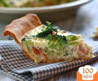 Фото рецепта: «Пирог с брокколи и сыром»
