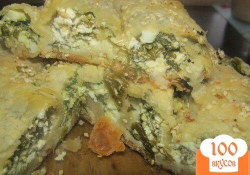 Фото рецепта: «Спанакопита -традиционный греческий пирог со шпинатом»