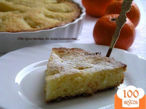 Фото рецепта: «Пирог с мандаринами»