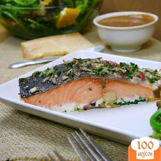 Фото рецепта: «Запеченное филе лосося»