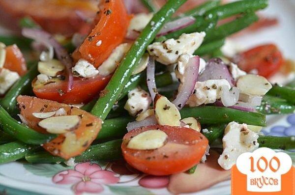 Фото рецепта: «Салат с зеленой фасолью»