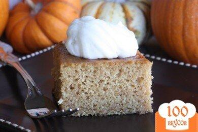 Фото рецепта: «Тыквенные пирожные с кремом»