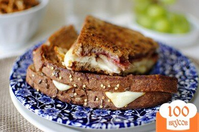 Сандвич с сырной корочкой, пошаговый рецепт с фото