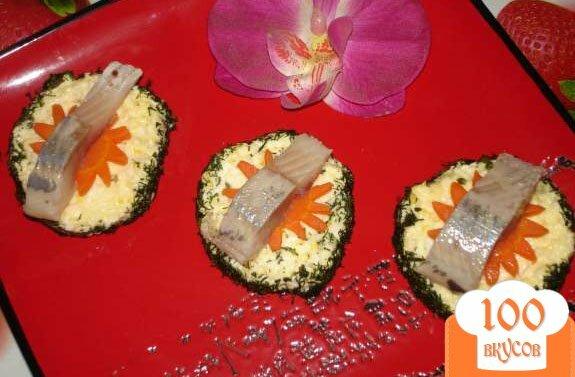 Канапе из селедки пошаговый фото рецепт