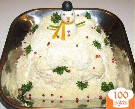 Салат сугроб и рецепт с