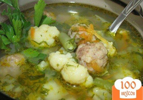 Суп с фрикадельками овощной пошаговый с фото