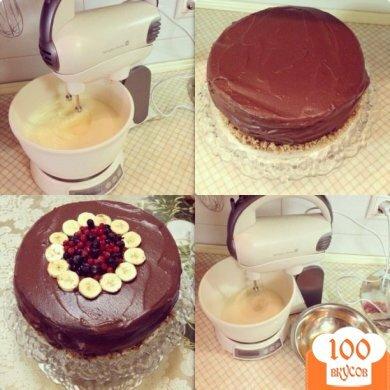 Рецепт торта шоколадно банановый с фото