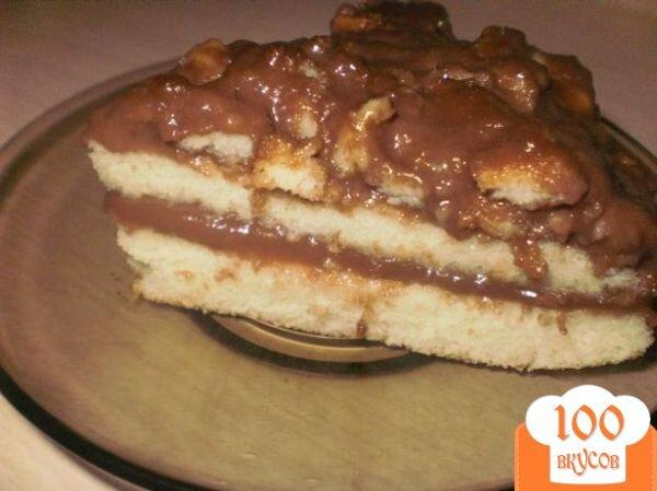 Бисквитный торт с заварным кремом с фото