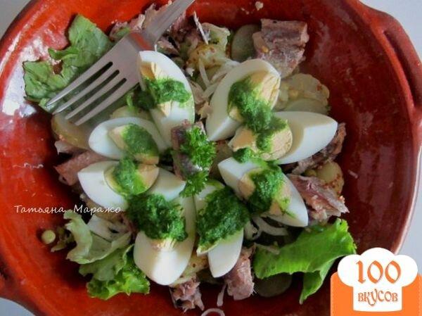 Салаты с сардинеллой рецепты с