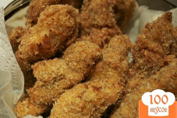 Жареная курица с сухариками