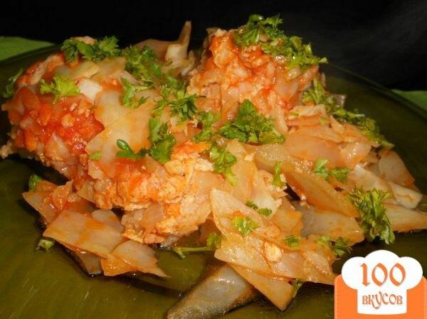 капуста мясо рис рецепт с фото
