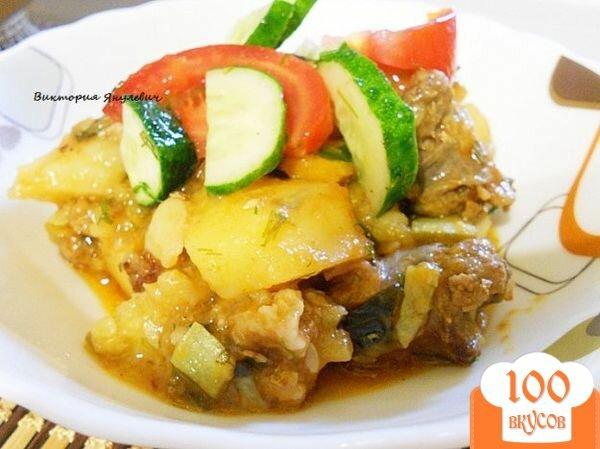 Овощное рагу с колбасой рецепт с фото