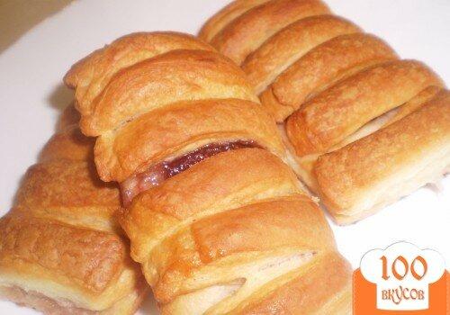 Пирог с клубничным вареньем из слоеного теста рецепт с пошагово