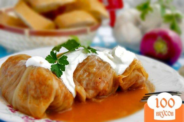 Голубцы в духовке в томатно сметанном соусе пошаговый рецепт с