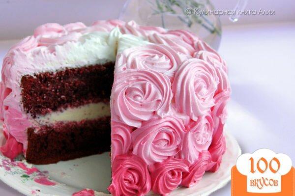 Пирожные красный бархат с фото пошагово