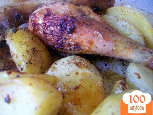 Запечь ножки курицы в духовке с картошкой
