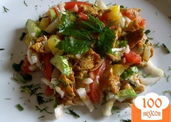 Салат с жареными лисичками рецепты