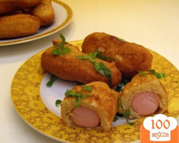 Фото рецепта: «Сосиски в кляре на сковороде»