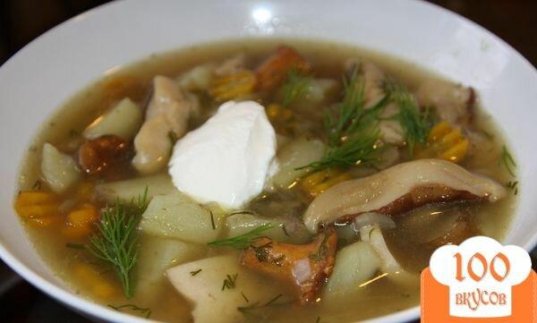 Суп из замороженных подберезовиков рецепт
