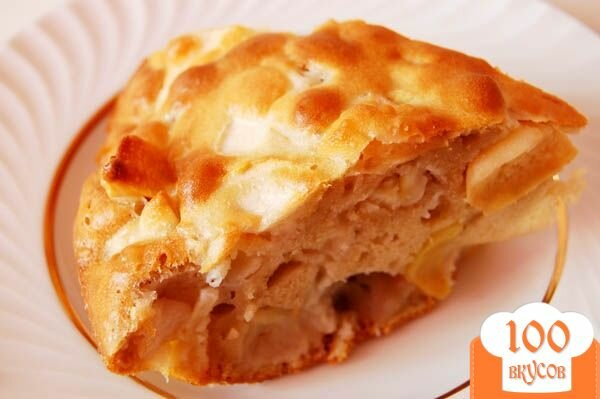 Открытая шарлотка с яблоками рецепт с фото пошагово в духовке