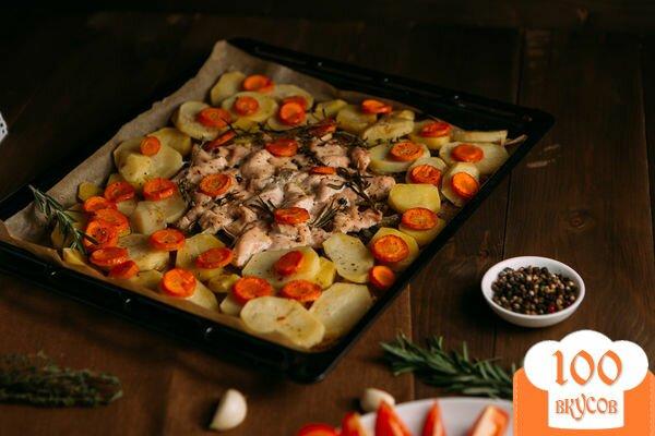 куры в духовке с овощами рецепт