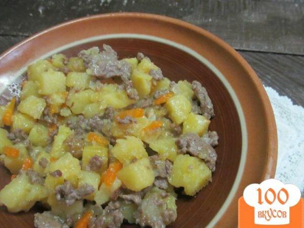 Картошка с фаршем и капустой тушеная рецепт с фото в мультиварке