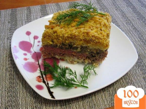 Гратен с мясом и грибами рецепт пошагово