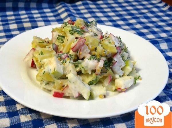 Салаты с вареным картофелем рецепты с