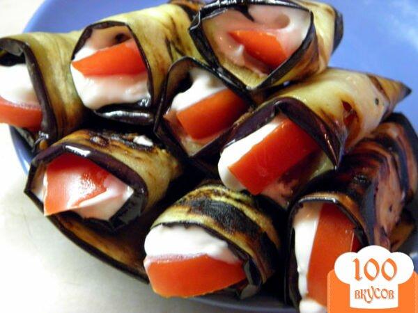 Рулетики баклажанов рецепты фото пошагово