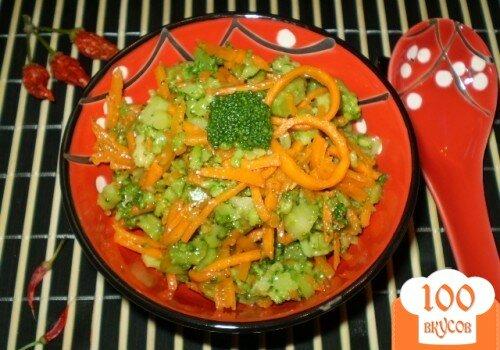 салат из капусты брокколи по корейски