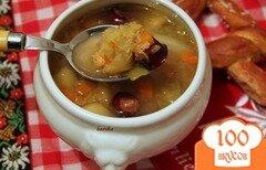 Фото рецепта: «Linseneintopf - густой суп с чечевицей»