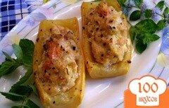 Фото рецепта: «Лодочки из кабачков запеченные в духовке»