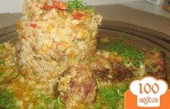 Фото рецепта: «Гречка по-купечески томлёная с мясом»