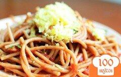 Фото рецепта: «Спагетти с базиликом и помидорами»