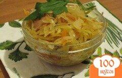 Фото рецепта: «Капуста тушеная с сосисками»