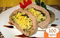 Фото рецепта: «Рулет с макаронами»